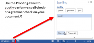 Microsoft Word Proofing Tool