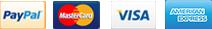 We accept PayPal, MasterCard, VISA, American Express