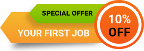 10% off your first job